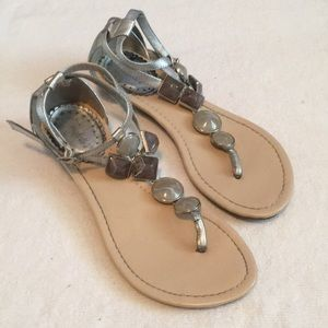 Breckelles Double Strap Sandals with Stones